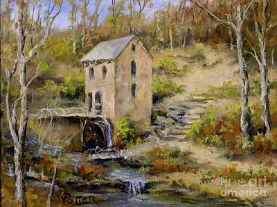 Painting - The Old Mill In Late Fall by Virginia Potter