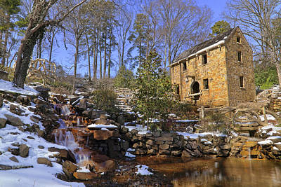 Photograph - The Old Mill In Winter - Arkansas - North Little Rock by Jason Politte