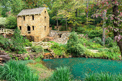 Photograph - The Old Mill - North Little Rock - Pugh's Mill 1832 by Gregory Ballos