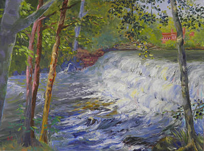 Painting - The Old Mill Stream by Sharon Casavant