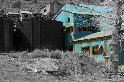 Photograph - The Old Mining Building by Richard J Cassato