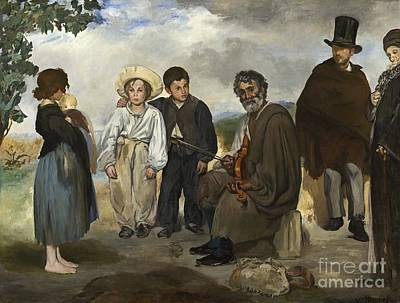 Musicians Royalty Free Images - The Old Musician Royalty-Free Image by Indian Summer