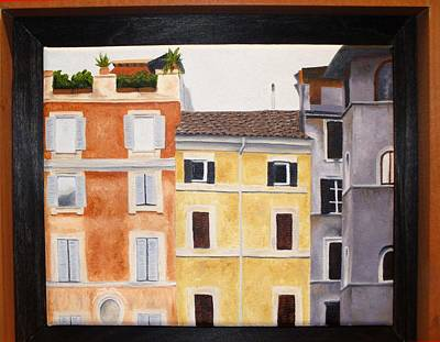 Painting - The Old Neighborhood by Karin Thue
