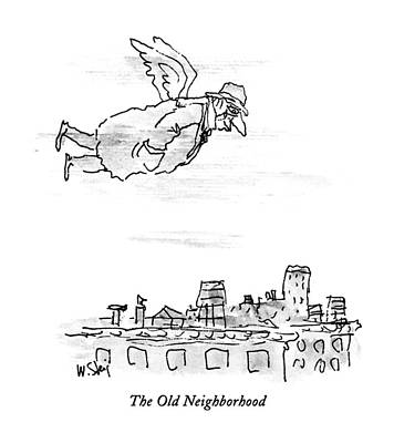 Angels Drawing - The Old Neighborhood by William Steig