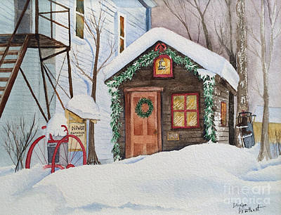 The Old Niwot Firehouse Print by Donlyn Arbuthnot