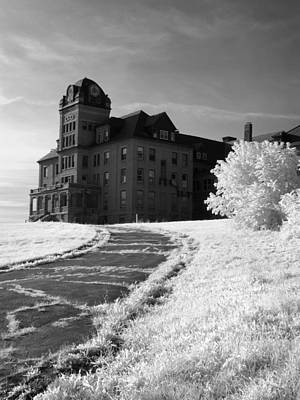 Photograph - The Old Odd Fellows Home Bw by Luke Moore