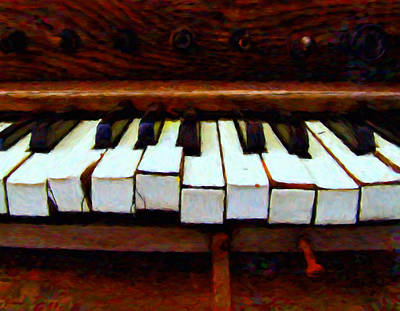 The Old Piano Art Print