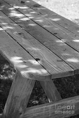 Photograph - The Old Picnic Table by Jennifer E Doll