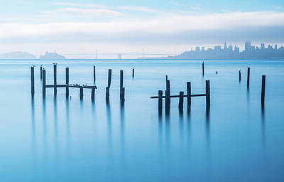 California Seascape Photograph - The Old Pier Of Sausalito by Jonathan Zhang