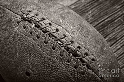 Footballs Closeup Photograph - The Old Pigskin by Edward Fielding