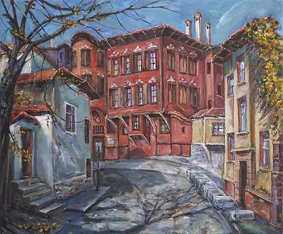 The Old Plovdiv - Autumn Sun Art Print by Stefano Popovski
