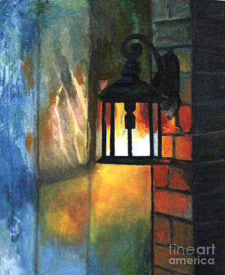 Painting - The Old Porch Light by Lamarr Kramer