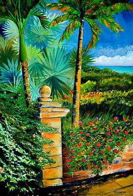 The Old Post In Key West Art Print