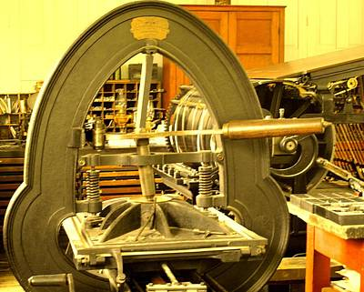 Photograph - The Old Printing Press by Ian  MacDonald