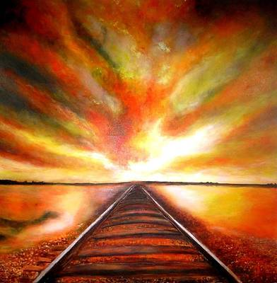 Painting - The Old Railroad  by Marie-Line Vasseur