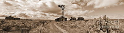 Photograph - The Old Ranch Sepia by Ansel Price