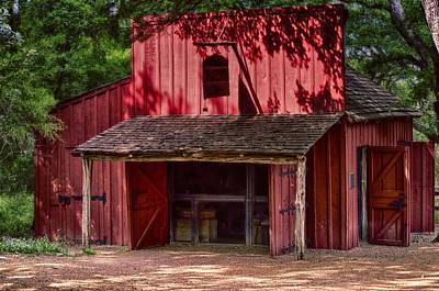 Photograph - The Old Red Barn by Kristina Deane