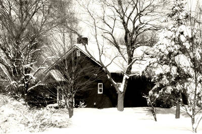 The Old Red House Art Print by Heather Allen