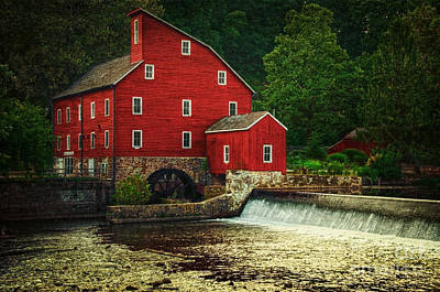 The Old Red Mill Art Print