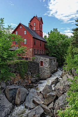Farm Building Photograph - The Old Red Mill Jericho Vermont by Edward Fielding
