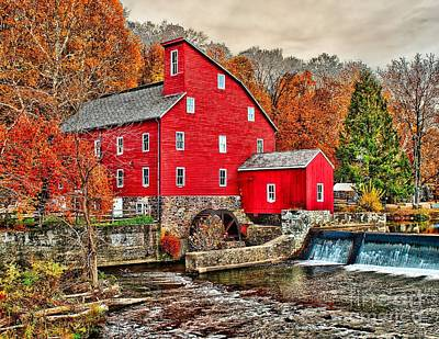 The Old Red Mill Art Print by Nick Zelinsky