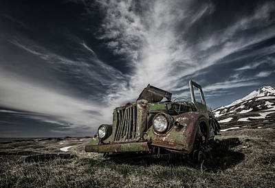 Rusty Cars Wall Art - Photograph - The Old Russian Jeep by Bragi Ingibergsson -