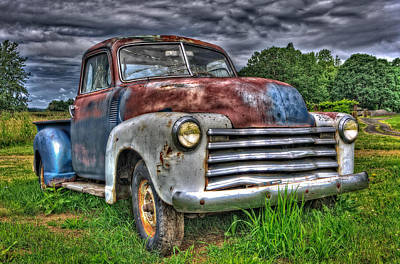 The Old Rusty Chevy Pickup Art Print by Thom Zehrfeld