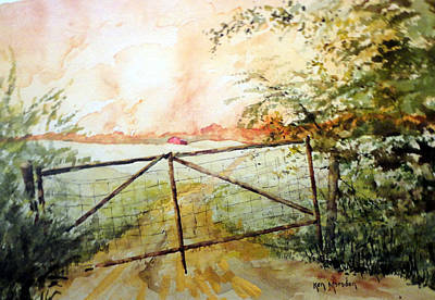 Painting - The Old Rusty Gate by Ken Marsden