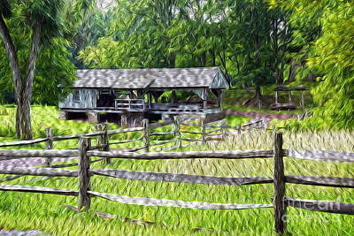 Split Rail Fence Photograph - The Old Sawmill by Paul W Faust -  Impressions of Light