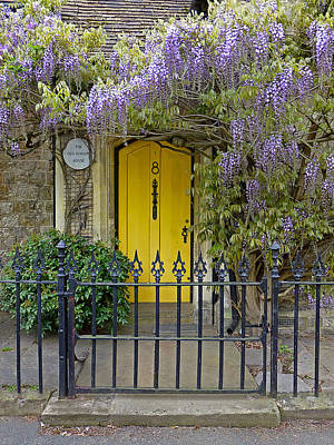 The Old School House Door Art Print by Gill Billington
