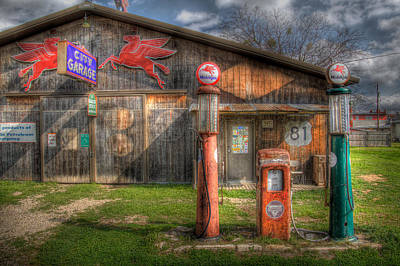 Pegasus Wall Art - Photograph - The Old Service Station by David and Carol Kelly