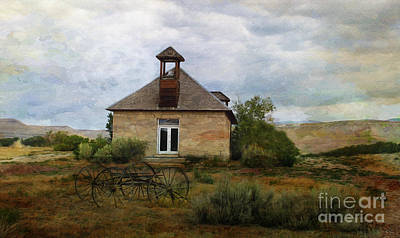 The Old Shell Schoolhouse Art Print by Janice Rae Pariza