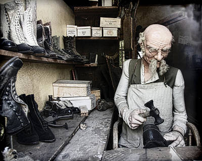 Photograph - The Old Shoe Cobbler by Steve McKinzie