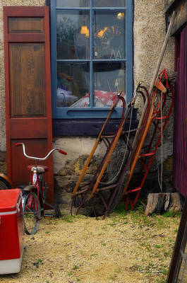 Stone Buildings Photograph - The Old Sleds by Mary Machare
