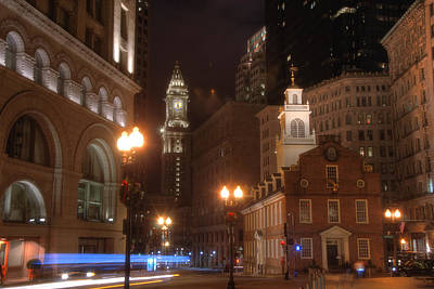 Photograph - The Old State House An The Custom House by Joann Vitali