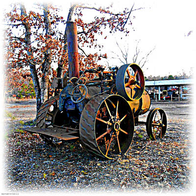 Digital Art - The Old Steam Tractor by K Scott Teeters