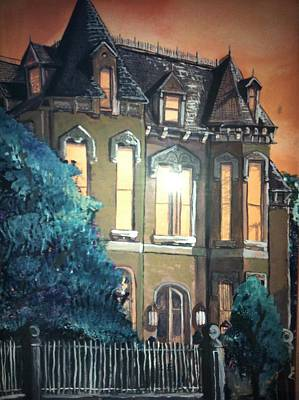 Painting - The Old Stegmeier Mansion by Alexandria Weaselwise Busen