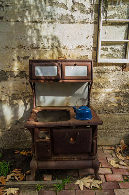 Photograph - The Old Stove And The Tea Kettle by Roger Mullenhour