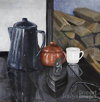 Painting - The Old Stovetop by Jesslyn Fraser