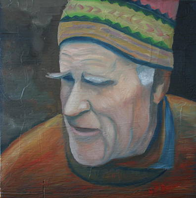 Character Portraits Painting - The Old Teacher by Stephen Degan