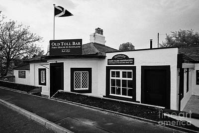 Toll House Photograph - The Old Toll Bar First And Last House In Scotland On The England Border by Joe Fox