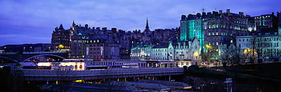 The Old Town Edinburgh Scotland Art Print by Panoramic Images