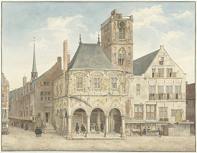 The Old Town Hall In Amsterdam The Netherlands Art Print