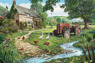 The Old Tractor Art Print by Steve Crisp
