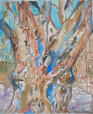 Painting - The Old Tree At The Art School by Esther Newman-Cohen