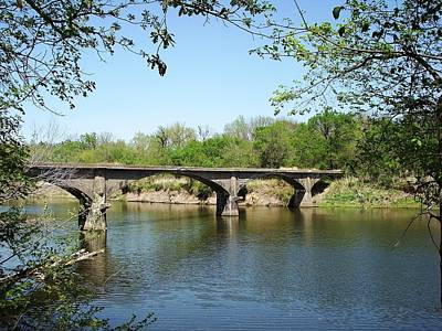 Photograph - The Old Trolley Bridge Over The Spring River by The GYPSY