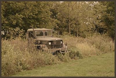 Photograph - The Old Truck by Charles Owens