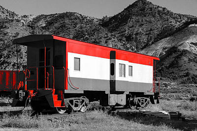 Train Photograph - The Old Wagon by Gloria Pasko