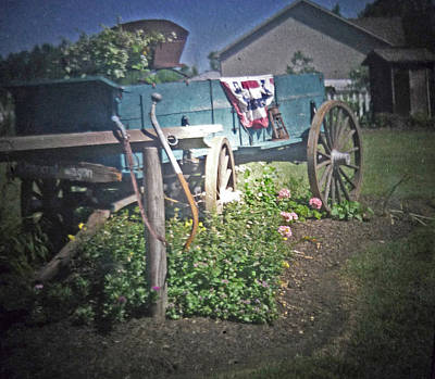 Rural Scenery Photograph - The Old Wagon by Michael Allen