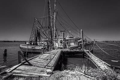 The Old Wharf In Brunswick Art Print by Debra and Dave Vanderlaan
